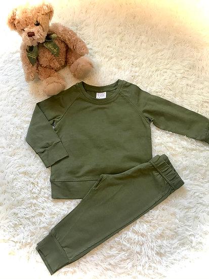 § Khaki Kids Loungewear Personalised