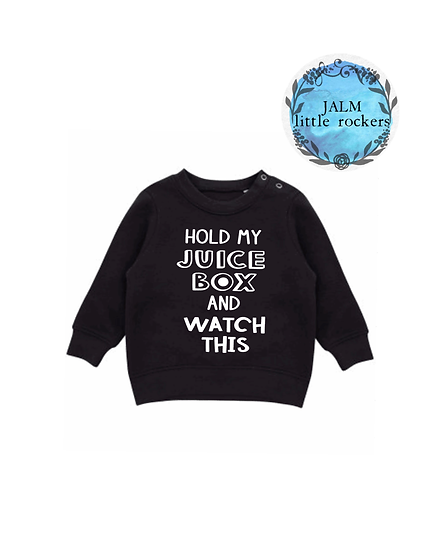 'Watch This' infant sweater