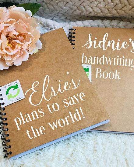 Personalised Eco Notebooks