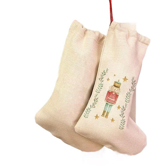 Luxury Nutcracker Christmas Stocking