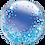 "Thumbnail: Personalised Blue Confetti 24"" Gumball Bubble Balloon Gift"