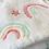 Thumbnail: § White Rainbow Personalised Pram Blanket