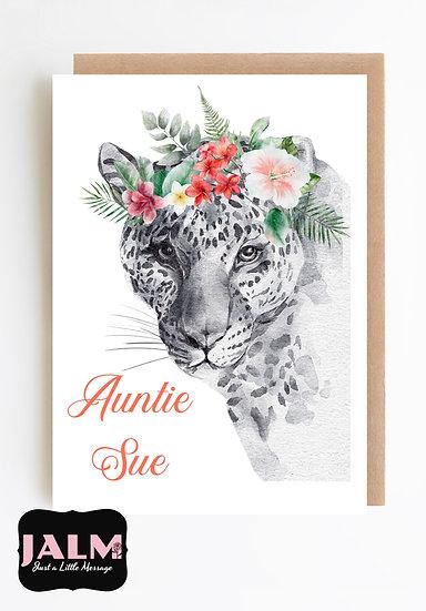 Personalised Floral Crown Greetings Card