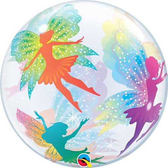 """Personalised Fairy 22"""" Gumball Bubble Balloon Gift"""