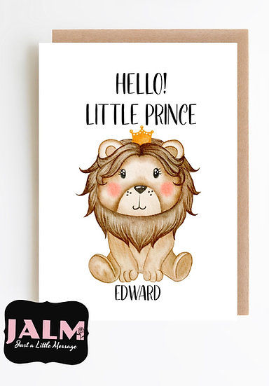 HELLO! Little Prince, New Baby Greeting Card