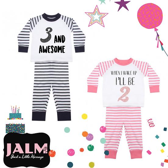 § Stripe Birthday PJs
