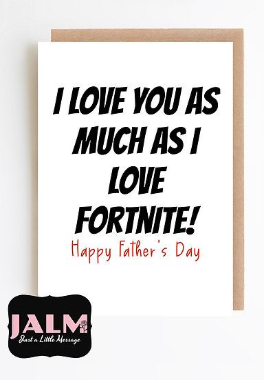 copy of Father's Day Card- Fortnite