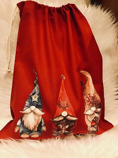 Christmas Gnome Style Gift Sack