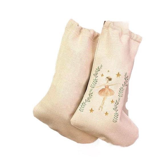 Luxury Ballerina Christmas Stocking