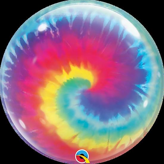 "Personalised Tie-Dye 22"" Gumball Bubble Balloon Gift"