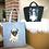 Thumbnail: Large Pug Felt Tote Bag