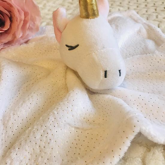 § Unicorn Plush Baby Comforter Personalised