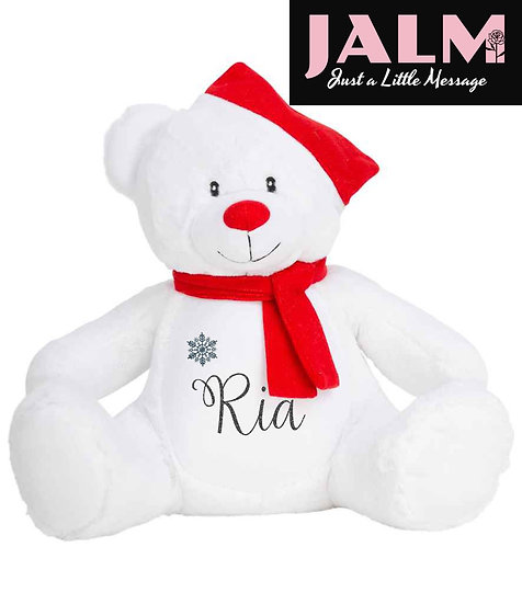 Personalised Christmas Ted Pyjama Case/Soft Toy