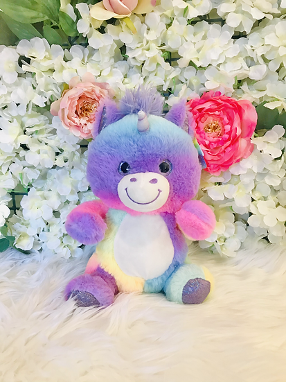 § Pastel Unicorn  Tummy Plush- 25cm