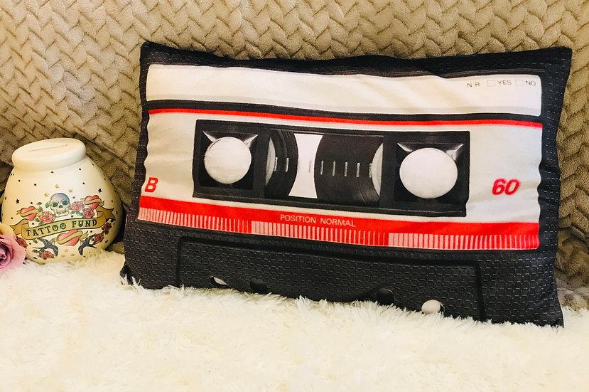 Retro Cassette Tape Personalised Cushion
