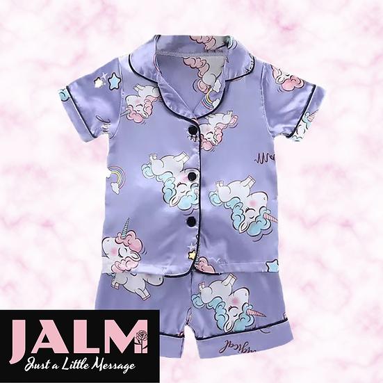 § Unicorn Satin Short Pyjamas