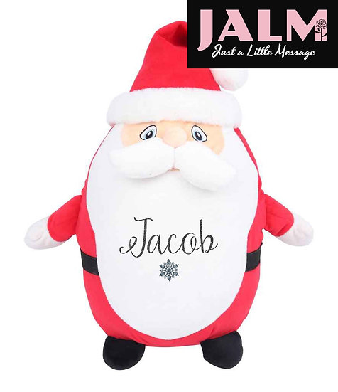 Personalised Father Christmas Pyjama Case/Soft Toy