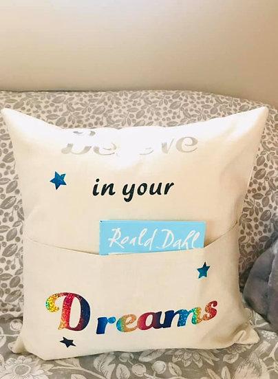 Personalised Believe StoryBook Cushion