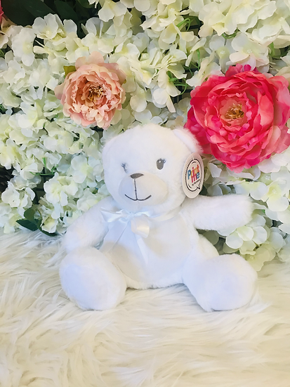 § White Newborn Mumbles Teddy -25 cm