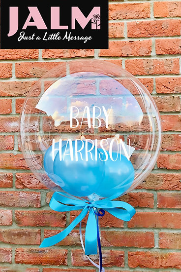 Personalised Clear Gumball Confetti Bubble Balloon