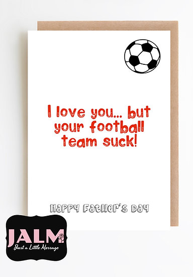 Father's Day Card- Football team