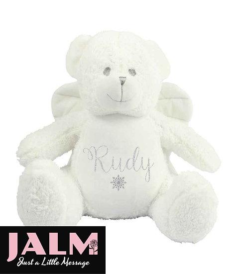 Personalised Angel Ted Pyjama Case/Soft Toy