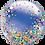 "Thumbnail: Personalised Rainbow Confetti 24"" Gumball Bubble Balloon Gift"