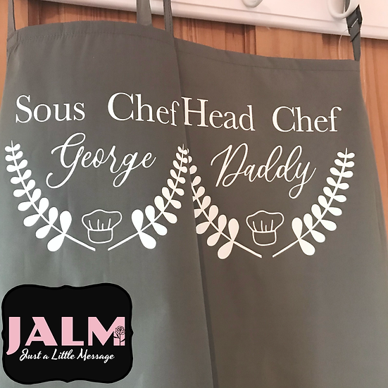§ Adults & Kids Personalised Chef Aprons