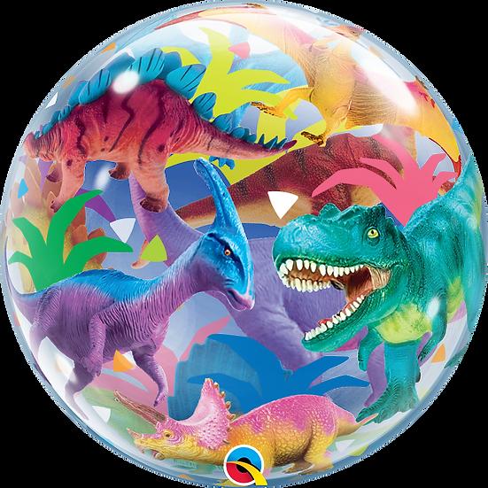 "Personalised Dinosaur 22"" Gumball Bubble Balloon Gift"