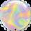 "Thumbnail: Personalised Iridescent Swirls 22"" Gumball Bubble Balloon Gift"