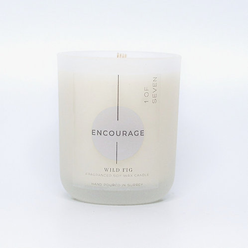 ENCOURAGE (I DO)- WILD FIG SCENTED SOY WAX CANDLE