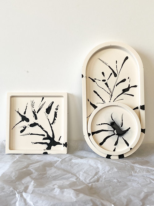 THE TREE COLLECTION  - HAND DRAWN JESMONITE CONCRETE PIECES