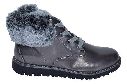 Μποτάκι Teddy shoes με φερμουάρ και γουνάκι A8603GR