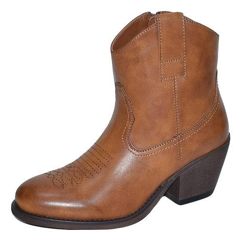 Μποτάκι cowboy style με φερμουάρ ZS692-1ABR