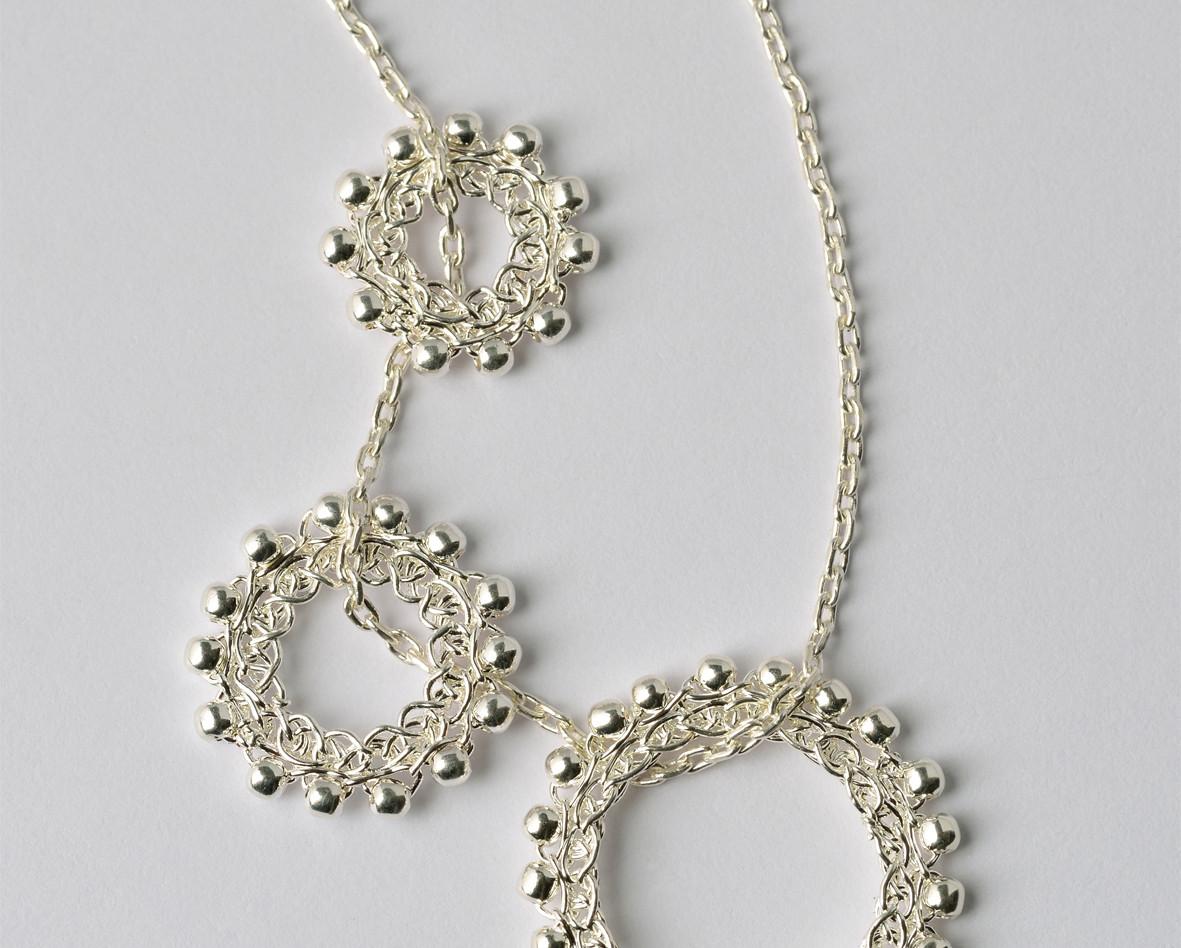Einhänger Loop Silber mit Silberkette