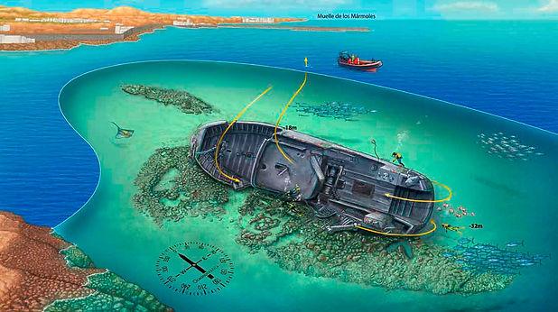 Rabat shipwreck - Arrecife Lanzarote