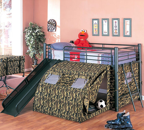 Camo Tent bed with Slide