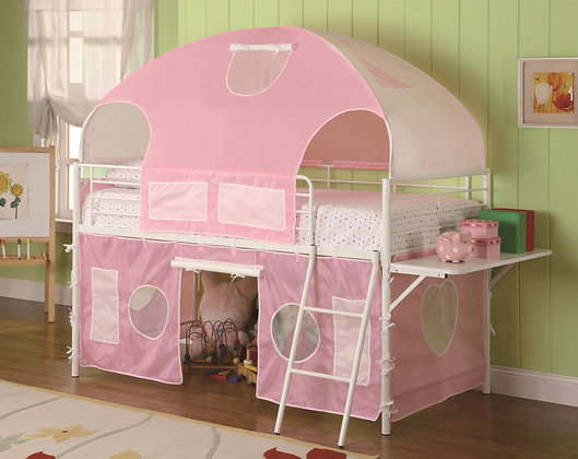 Pink Loft Tent Bed