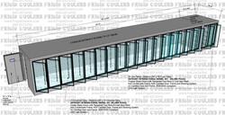 DISPLAY GLASS DOOR COOLER AND FREEZER 8X50-4X7-6 17-COOLER DOORS AND 2- FREEZER DOORS  (3)