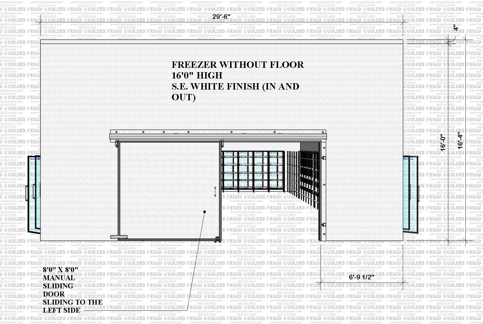 DISPLAY GLASS DOOR FREEZER 29-6X65X16 HIGH 57-GDS FREEZER  (4)