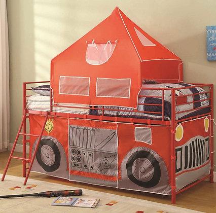 Fire Truck Loft Tent Bed