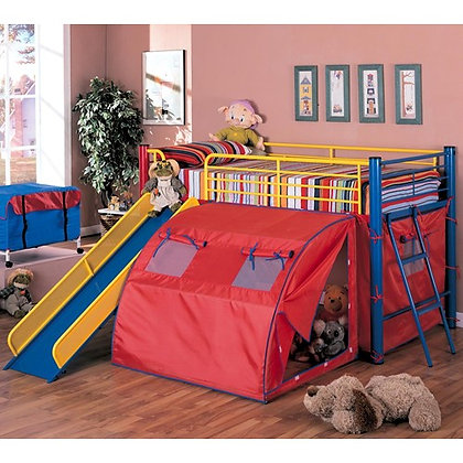 MultiColor Tent Bed with Slide