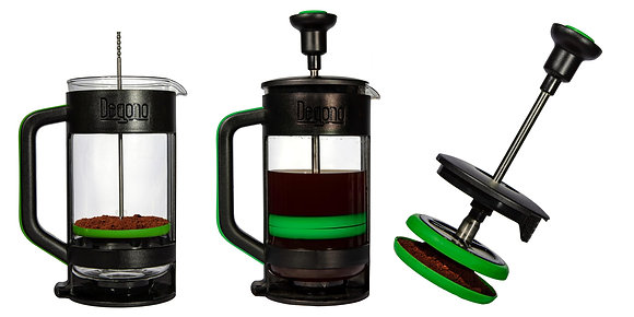 Degono Grande tea and coffee press green