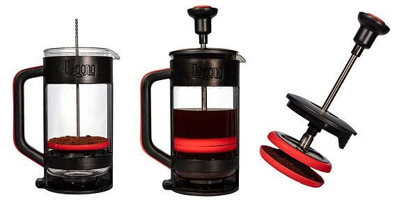 Degono Grande Tea and Coffee Press Red