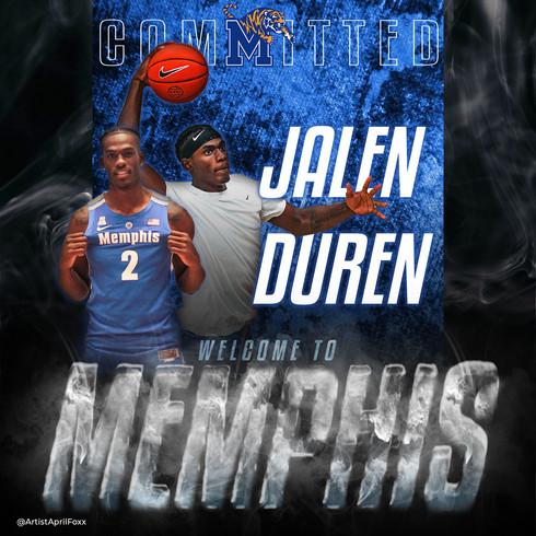 Jalen Duren committed to Memphis!