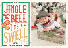 Jingle Bell Time - Holiday Photo Card