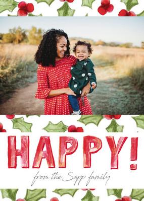 HAPPY! - Holiday Photo Card