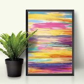 "Acrylic on Canvas - ""Radiant Retreat"""