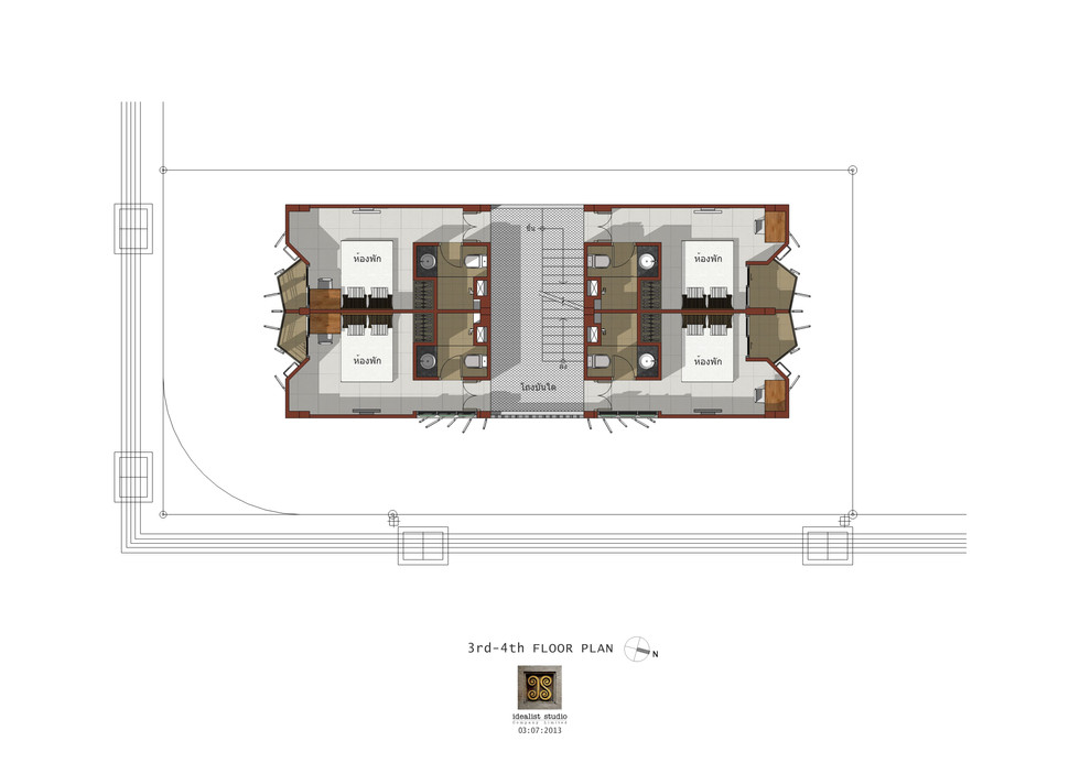 3rd-4th FLOOR PLAN