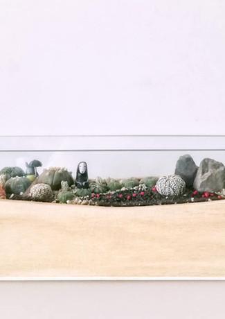 No-Face Open Glass Zen Piece